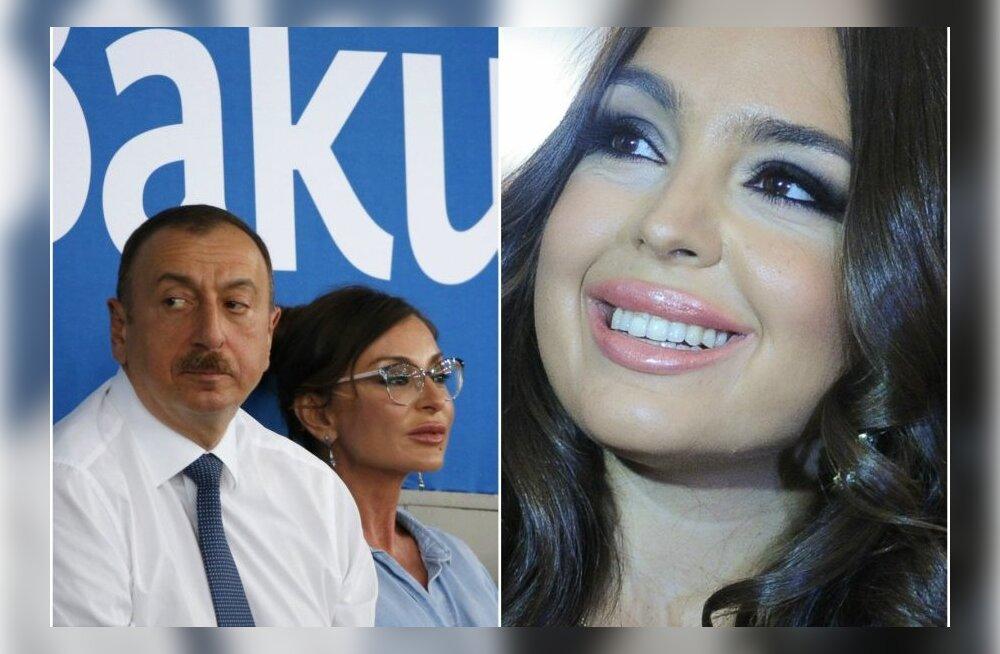 Ilham Alijev oma abikaasa Mehriban Alijevaga. Kõrval Leyla Alijeva.