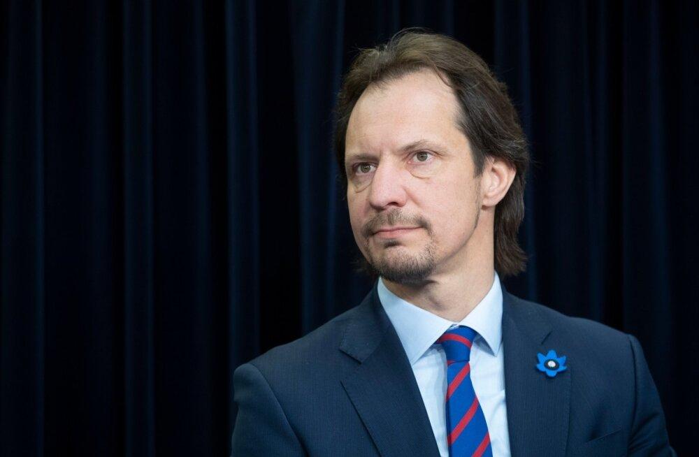Lõpetava valitsuse viimane pressikonverents Stenbocki majas