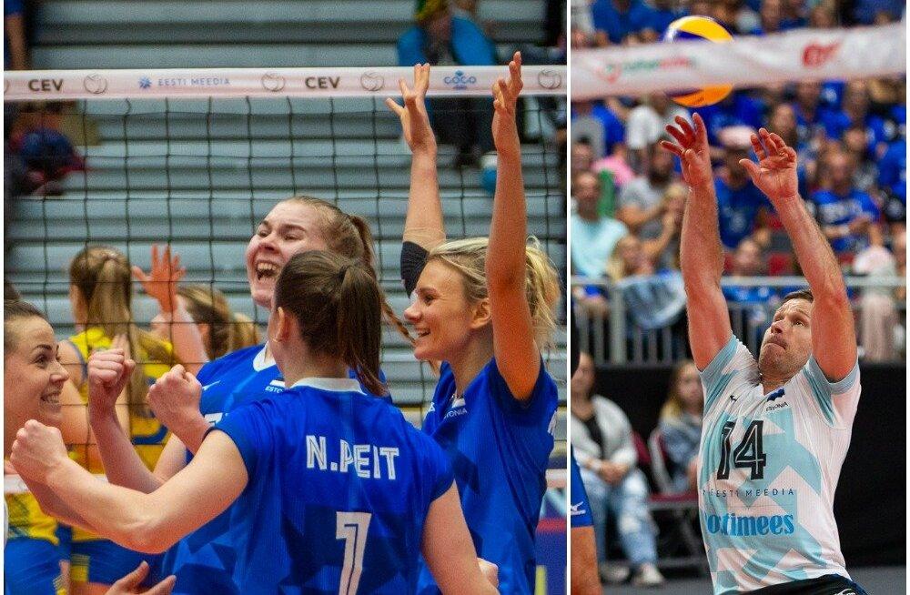 BLOGI TARTUST | Tublid võrgunaised! Eesti võitis 2200 inimese kannustamisel Rootsit ja jõudis EM-finaalturniiri lävele. Mehed nüpeldasid Lätit armutult