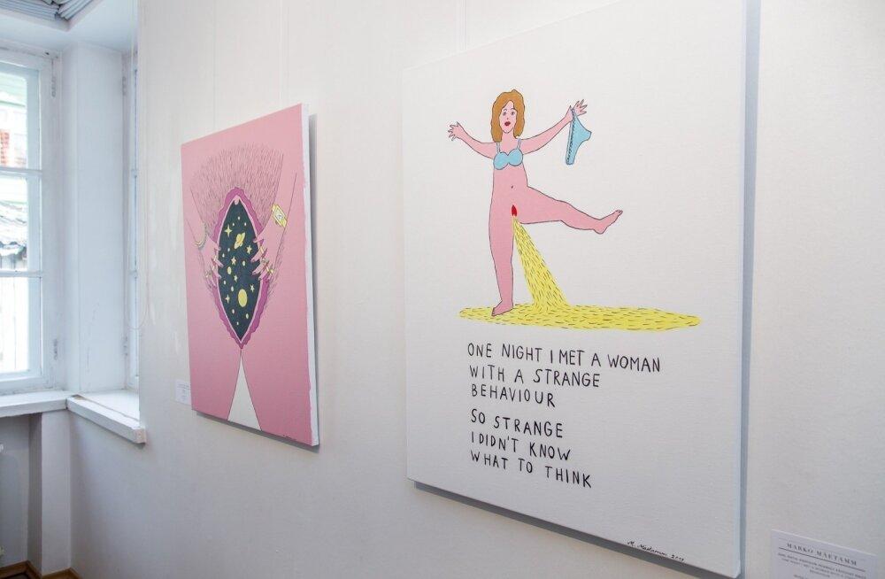 ФОТО и ВИДЕО: Скандал! На открытии выставки в Пярну художница-феминистка разделась догола. Но это еще не все