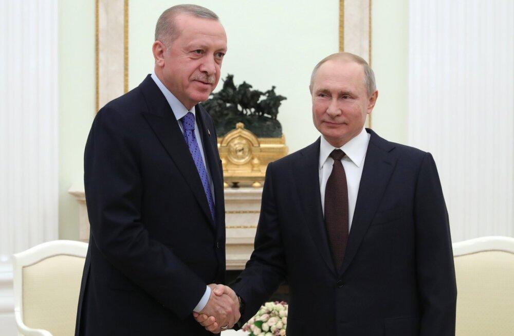 Президенты Турции и России