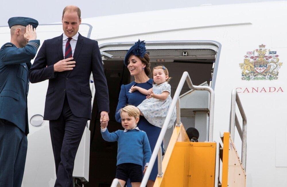 Kate ja William saabuvad perega Kanadasse