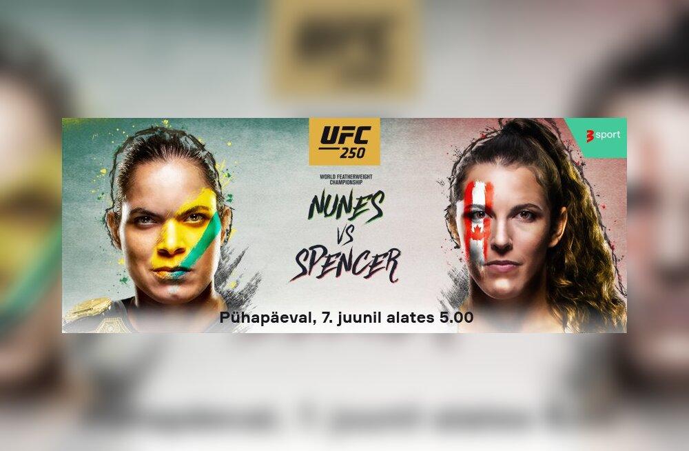 UFC legend Amanda Nunes kohtub puuris pea võitmatu kanadalannaga