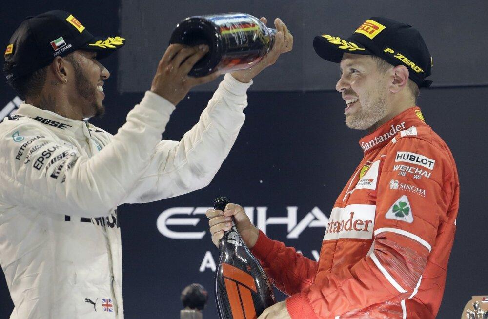 Lewis Hamilton ja Sebastian Vettel