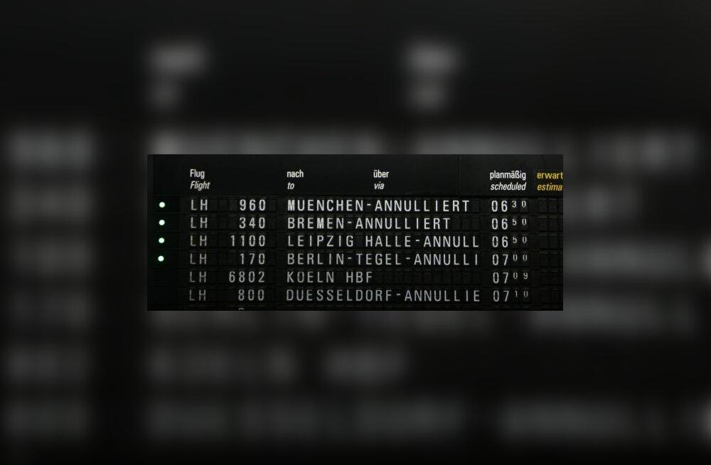 Lufthansa lende üle maailma häirib peaarvuti rike