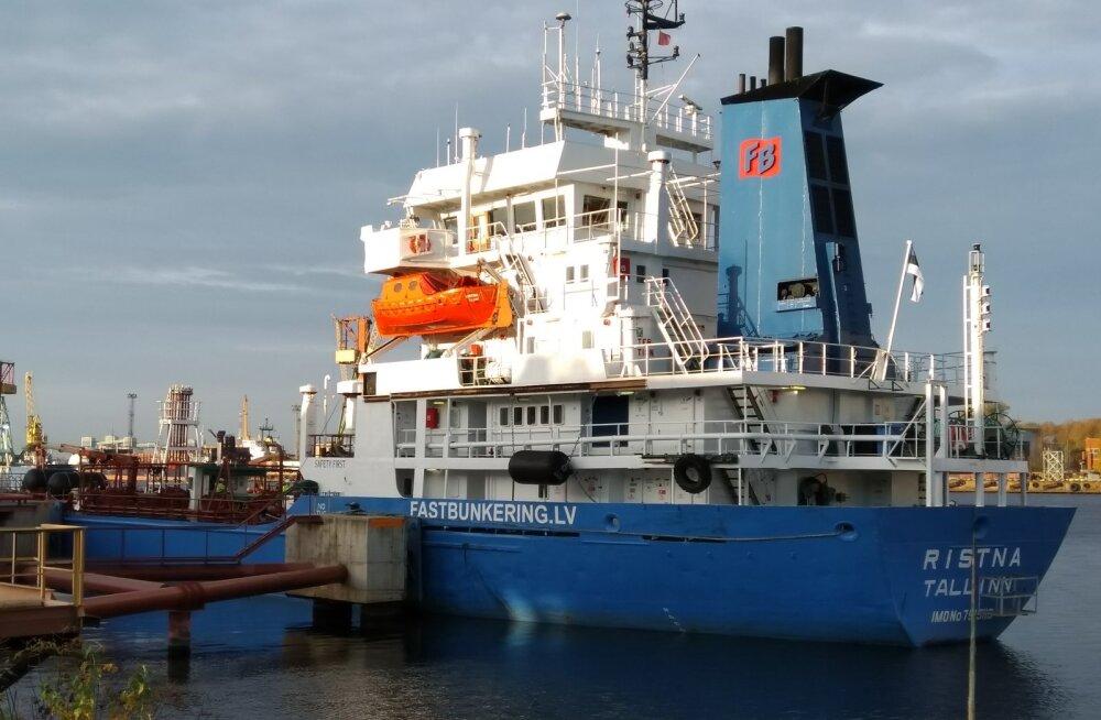 Eesti lipu alla naasnud kaubalaev Ristna