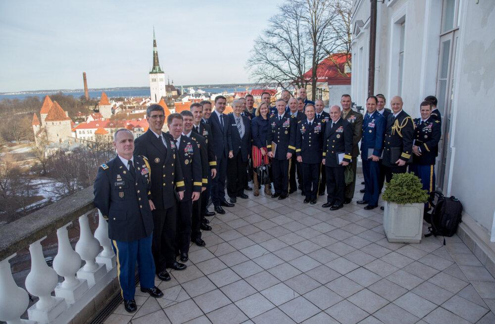 <o:p></o:p> Ligi 20 USA kindralit tutvub Eesti riigikaitse süsteemi ja tähtsamate poliitikutega presidendist pea- ja välisministrini