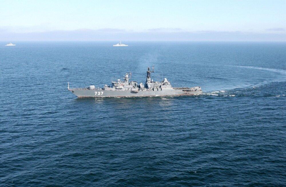 """Сторожевой корабль """"Ярослав Мудрый"""" Балтийского флота на учениях FRUKUS-2012 c кораблями США, Великобритании и Франции"""