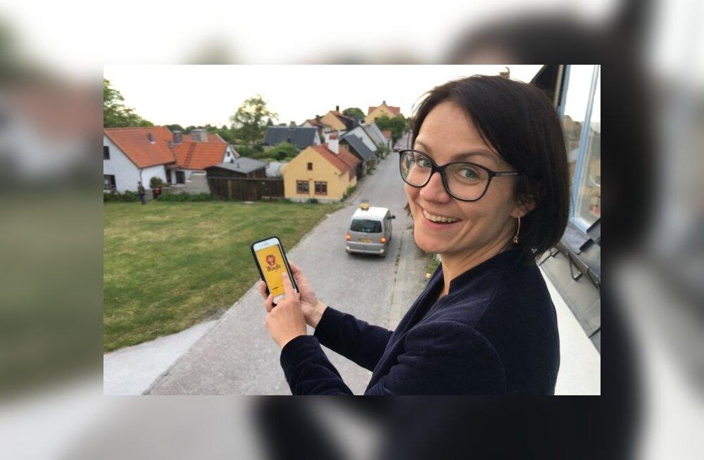 """""""Olen Minglaga saanud nii Soome kui ka Rootsi arvamusfestivalilt mitu uut kontakti, kellega reaalselt kohtusin,"""" ütleb Annika Arras. Foto on tehtud Rootsi arvamusfestivalil."""