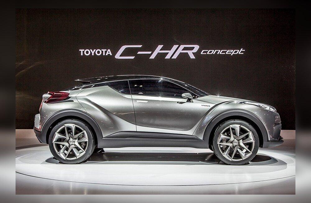 Lõpp konservatiivsusele! Toyota esitleb Genfis futuristlikku C-HR maasturit