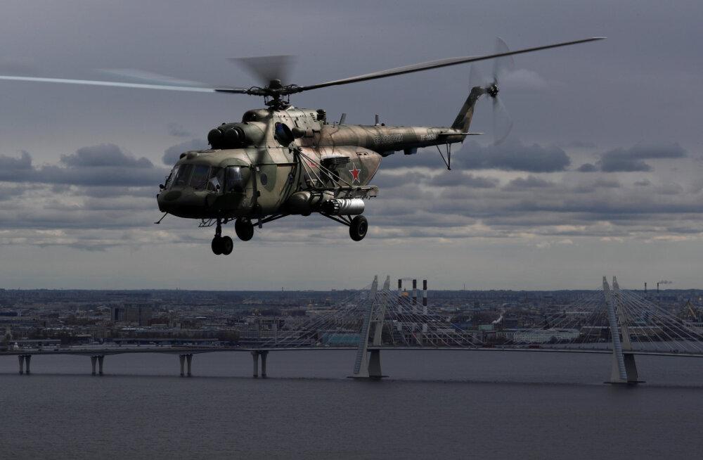 Moskva oblastis kukkus alla sõjaväe helikopter, mille meeskond hukkus