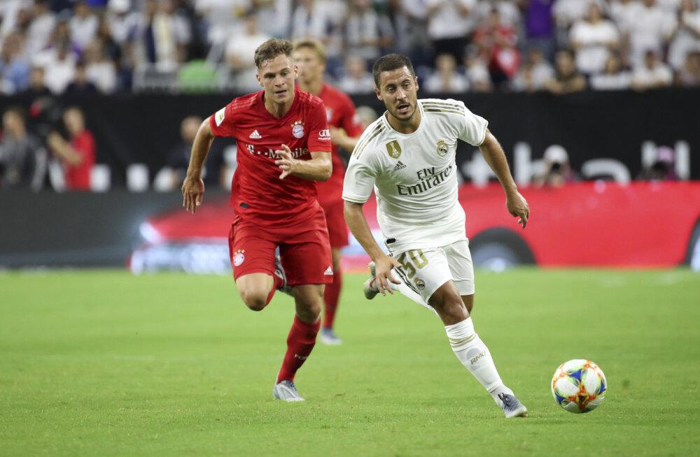 VIDEO | Hazard debüteeris Reali särgis, aga Bayernile jäädi kindlalt alla
