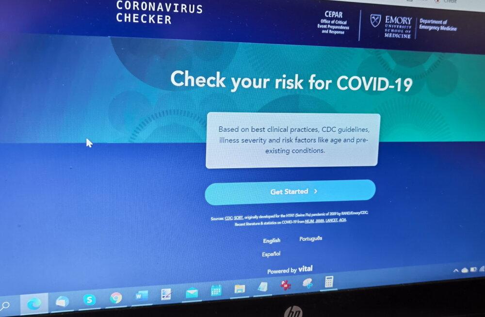 Kas mul on COVID-19? Uus veebilahendus aitab kõigil maailma inimestel end hinnata