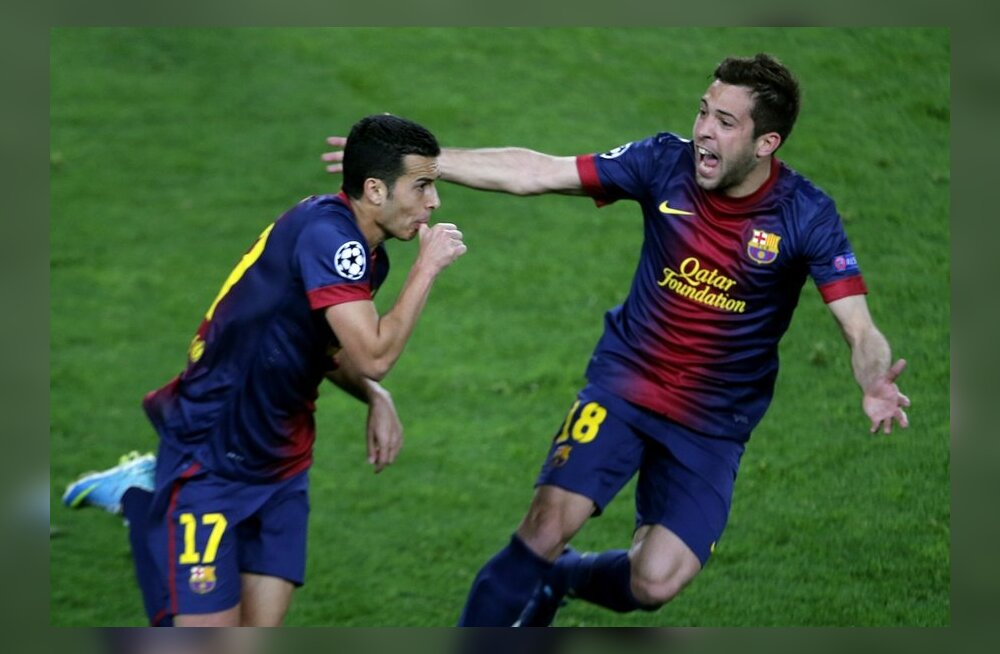 Pedro lõi päästva viigivärava Barcelonale