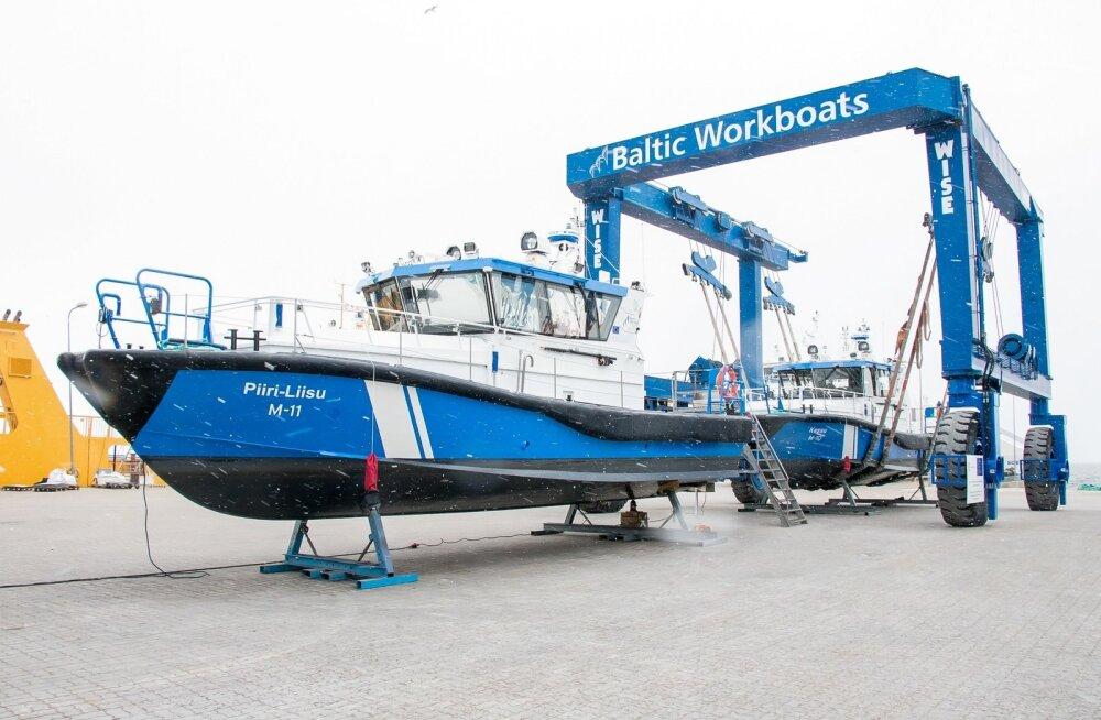 Piirivalvelaeva kiilutseremoonia Nasval Baltic Workboatsis