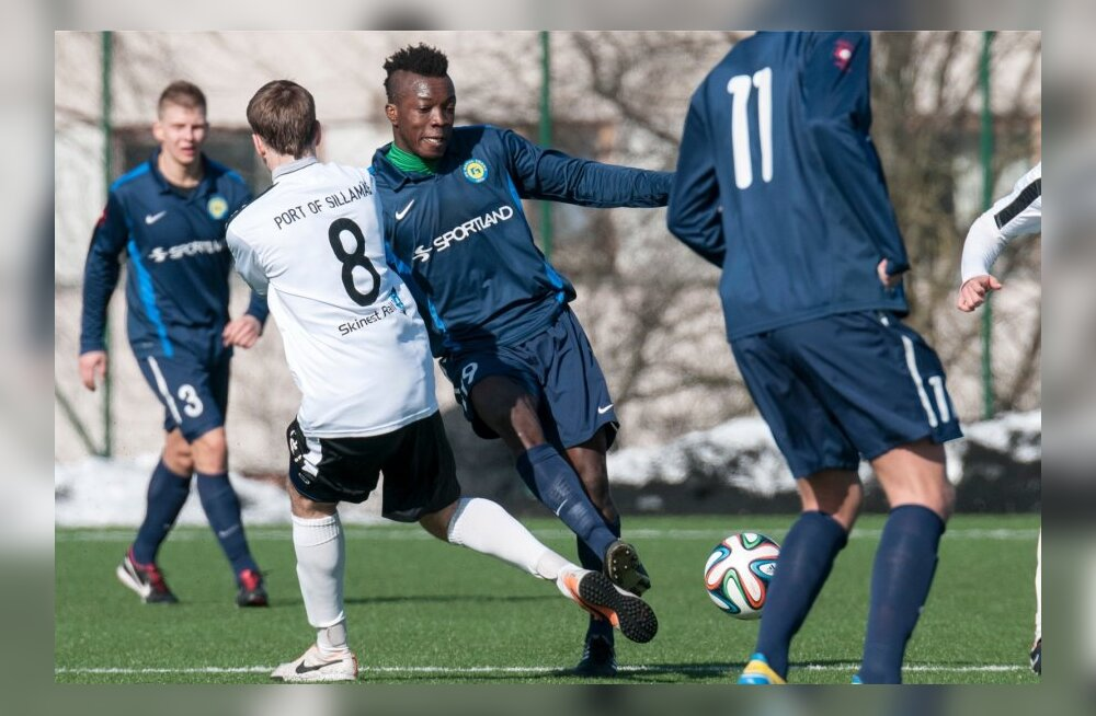 Jalgpall Sillamäe Kalev vs Narva Trans