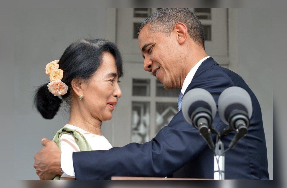 Obama saabus ajaloolisele visiidile Birmasse