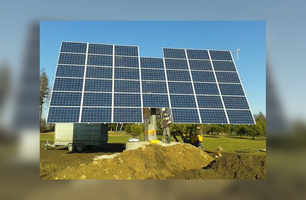 Käru valda paigaldati omapärane päikese-energia süsteem