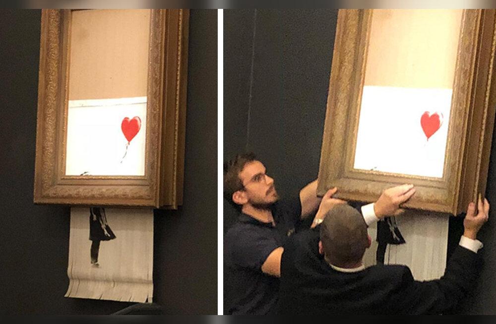 """""""Tüdruk punase õhupalliga"""" hävines pärast miljoni euro suurust müüki"""