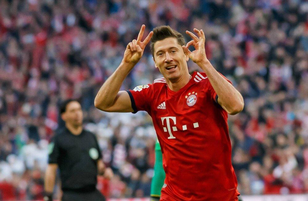 Bayern purustas Dortmundi, Lewandowski jõudis võimsa tähiseni