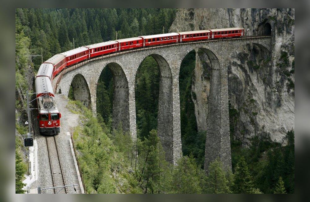 VIDEO: Šveitsi raudtee päästeti võimsa plahvatusega