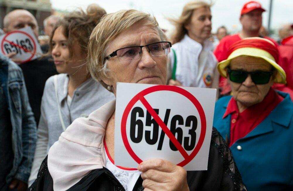 Venelastest protestijad möödunud nädalal Moskvas duuma ees.