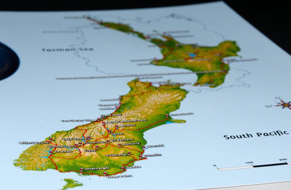 Veider lugu: suur saareriik Uus-Meremaa on sageli maailmakaardilt puudu