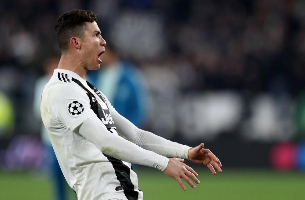 Cristiano Ronaldo väravatähistus mängus Madridi Atleticoga.