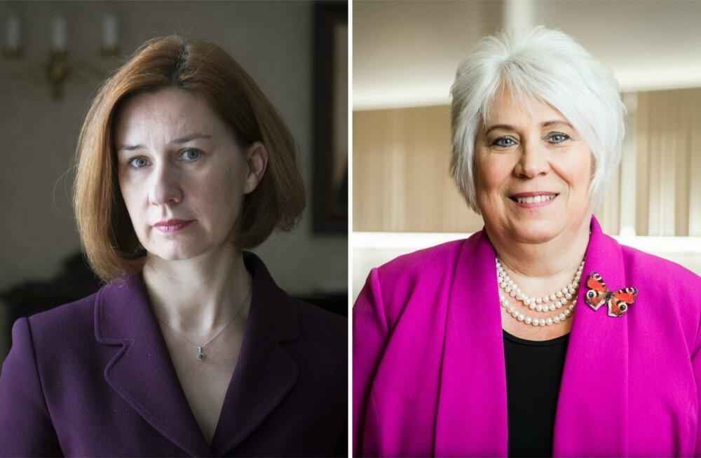 Naiste Kongressi ühed peaesinejad: Lavly Perling ja Marina Kaljurand