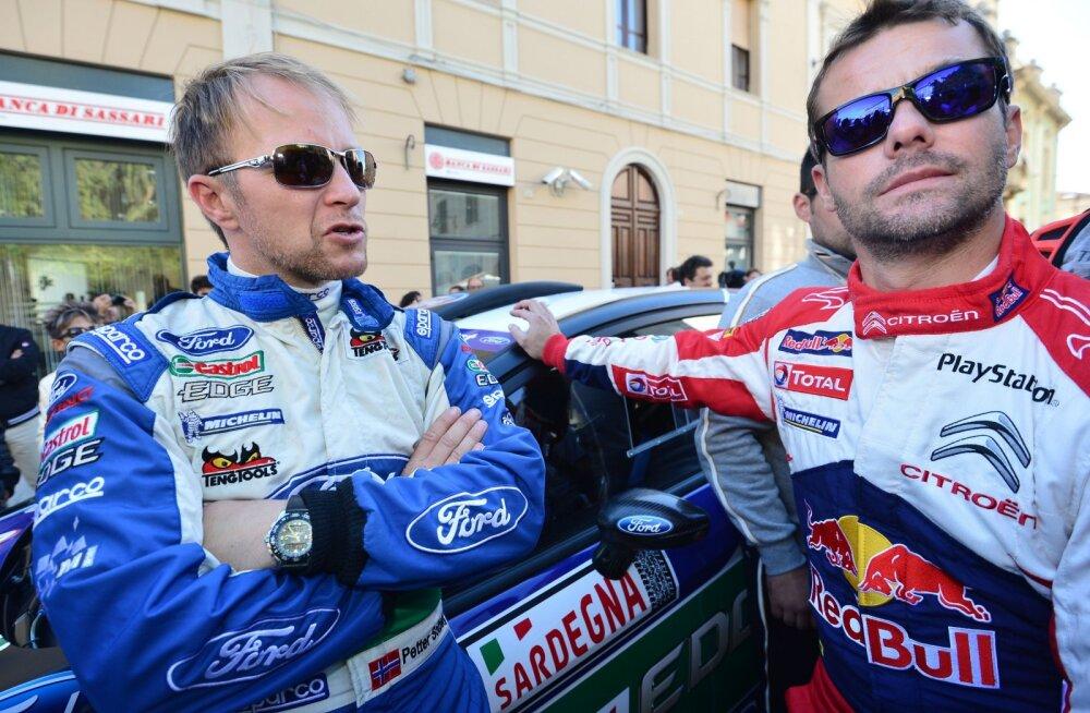 Maailmameistrid Petter Solberg ja Sebastian Loeb