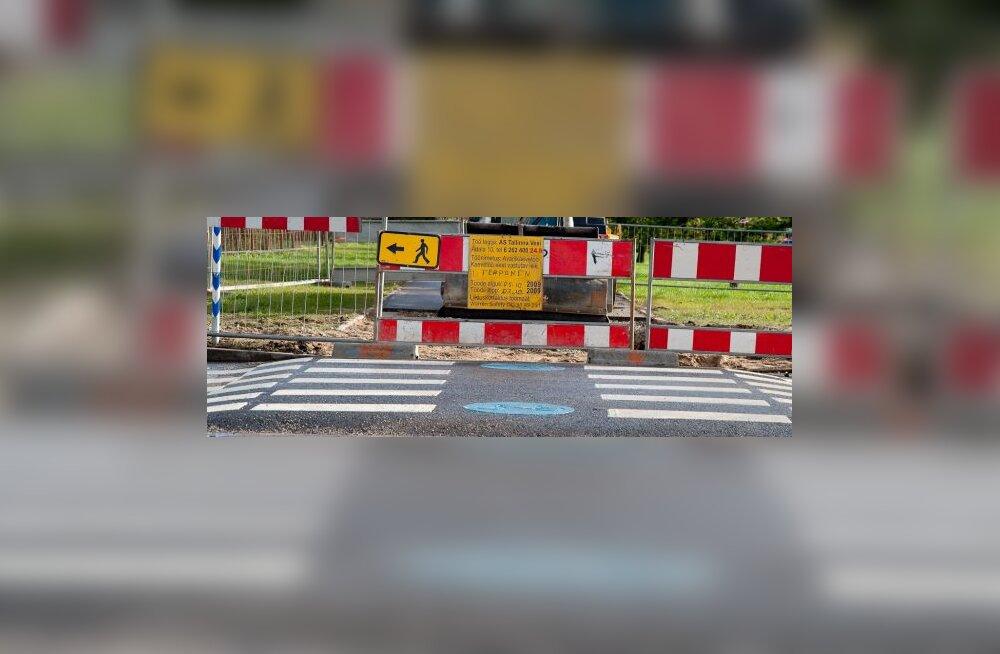 Осторожно! В Таллинне ремонтируют дороги