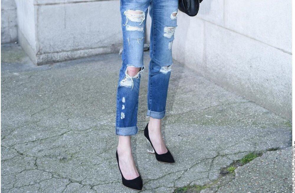 ada077e7eba TEE ISE: kujunda vanadest teksadest stiilselt lõhkised püksid - Anne ...
