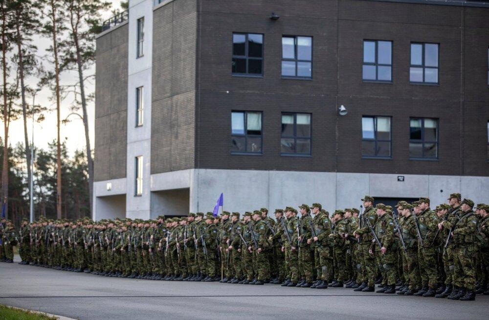 Õppusel Okas 2018 osalenud reservväelaste lõpurivistus