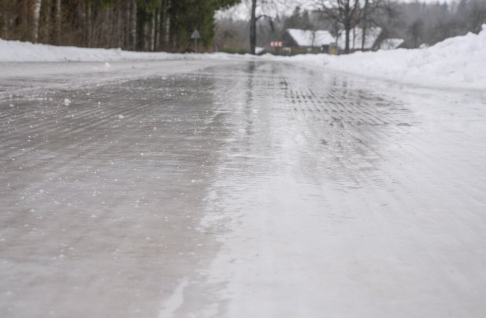 Jäised teeolud Viljandimaal