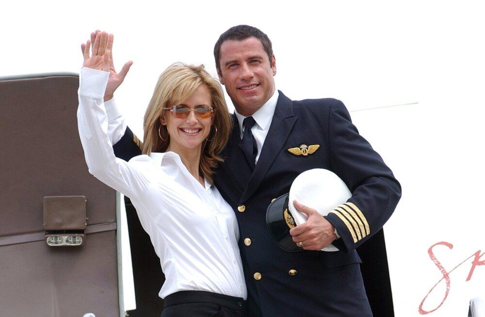 John Travolta and wife Kelly Preston