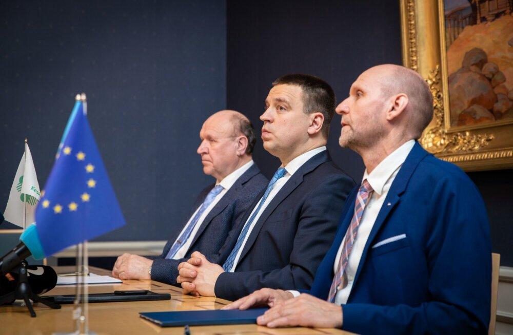 Koalitsioonilepingu allkirjastamine