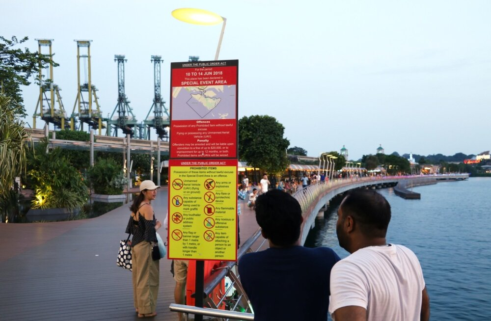 Sellest sildist algab Singapuris Sentosa saarele viiv jalakäijate tee ja järgmisteks päevadeks ka eritsoon.