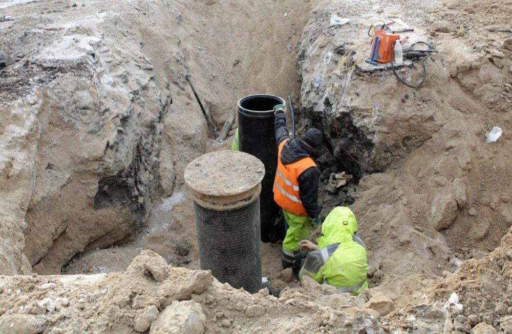 Vee- ja kanalisatsioonitrassi ehitamine Lehetu külas Raplamaal