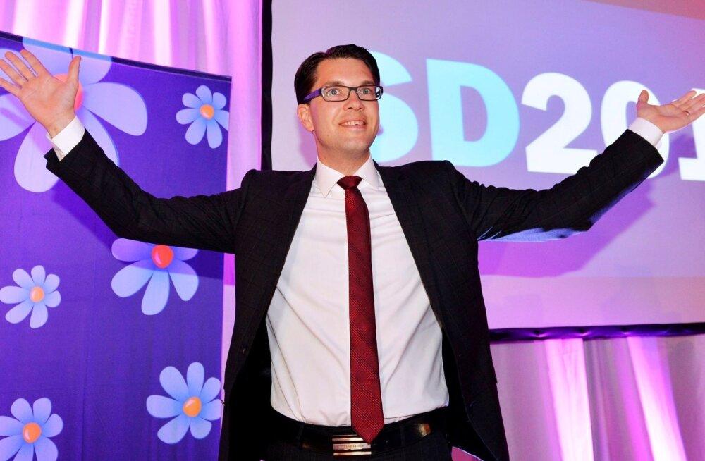 Sisserändevastased Rootsi Demokraadid tõusid Rootsi populaarsuselt teiseks erakonnaks