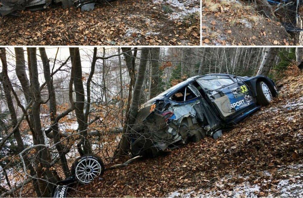 VIDEO | Tänaku konkurent tegi tõsise avarii ja sõitis vastu puud