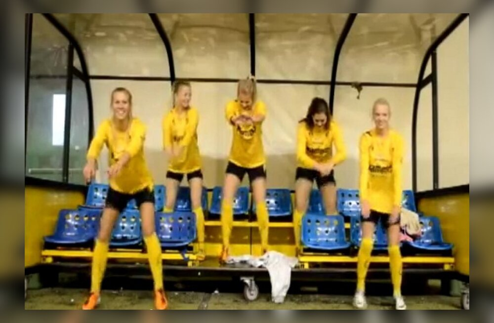 VIDEO: Norra naiskond tähistab hooaja lõppu Gangnam-stiilis