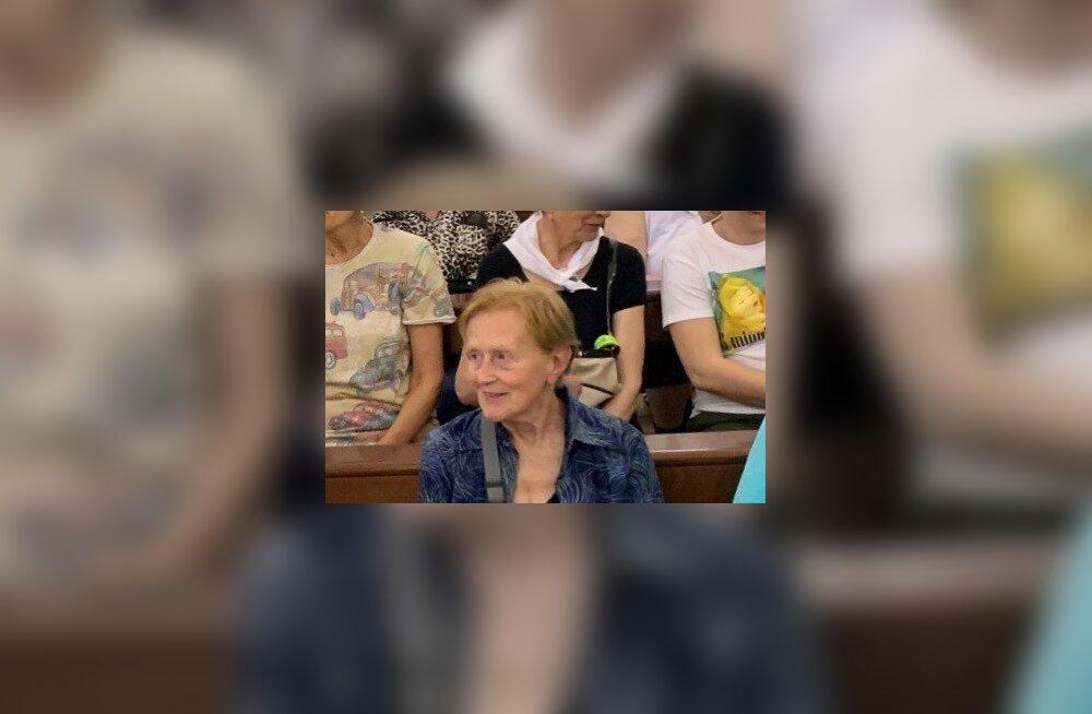 Полиция ищет пропавшую в Таллинне 90-летнюю туристку