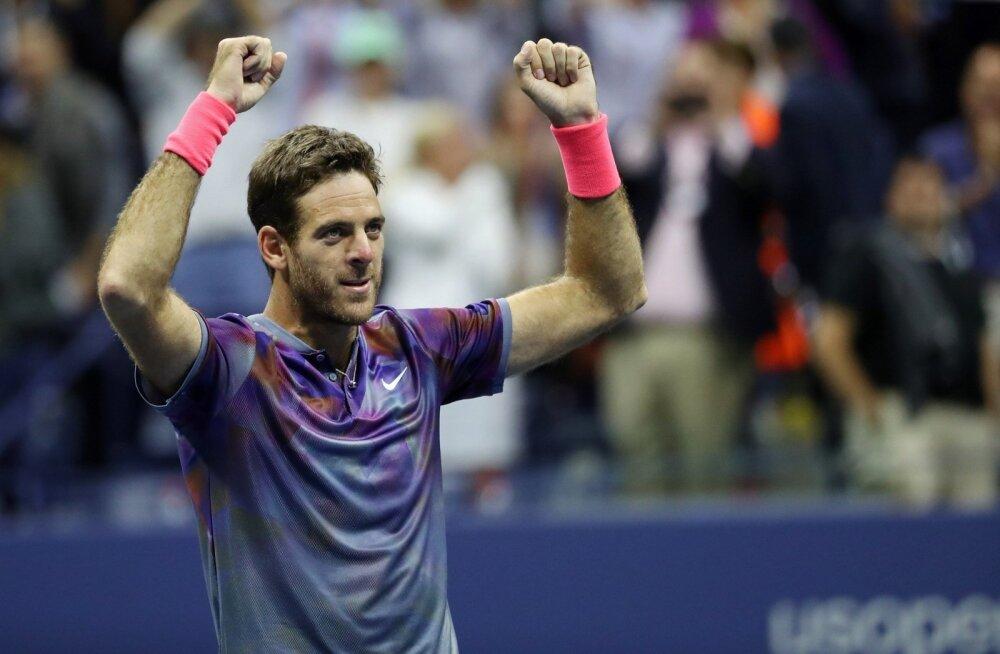 Juan Martin Del Potro pärast Roger Federeri alistamist