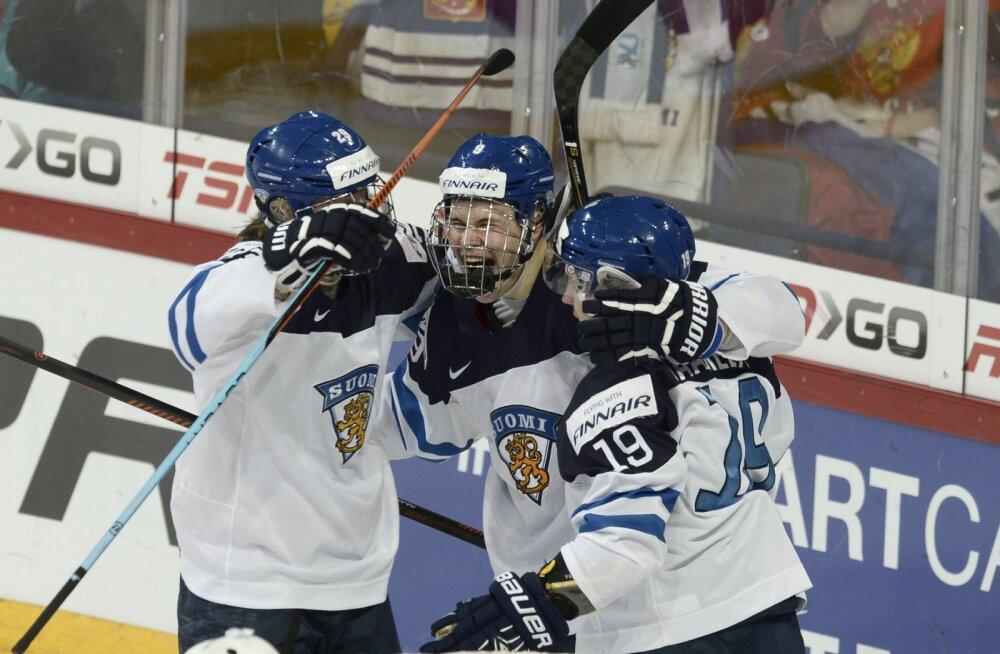 Soome noored hokimehed purustasid MM-finaalis Rootsi 6:1!