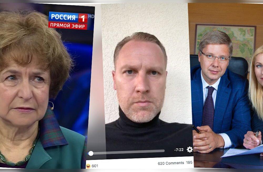 Hetki valimiste eel: Tatjana Zdanoka Läti Vene Liidust süüdistab Vene riigikanalis lätlasi fašismis, populistlide juht Aldis Gobzems selgitab sotsiaalmeedias toetajatele, miks peavoolumeedia toodab valeuudiseid ja Riia linnapea Nilš Ušakovs kutsub koos l