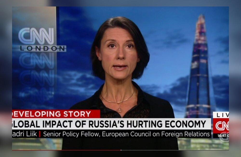 Kadri Liik CNN-i otsesaates: Venemaa majanduslik olukord kahjustab pikemas perspektiivis Putini positsiooni