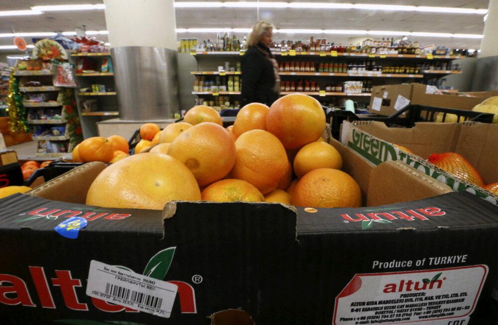 Hüvasti, greipfruut! Venemaa keelab viimasedki Türgi puu- ja juurviljad