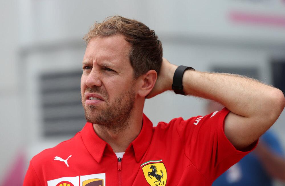 Red Bulli hall kardinal: Sebastian Vetteli usk Ferrarisse kadus