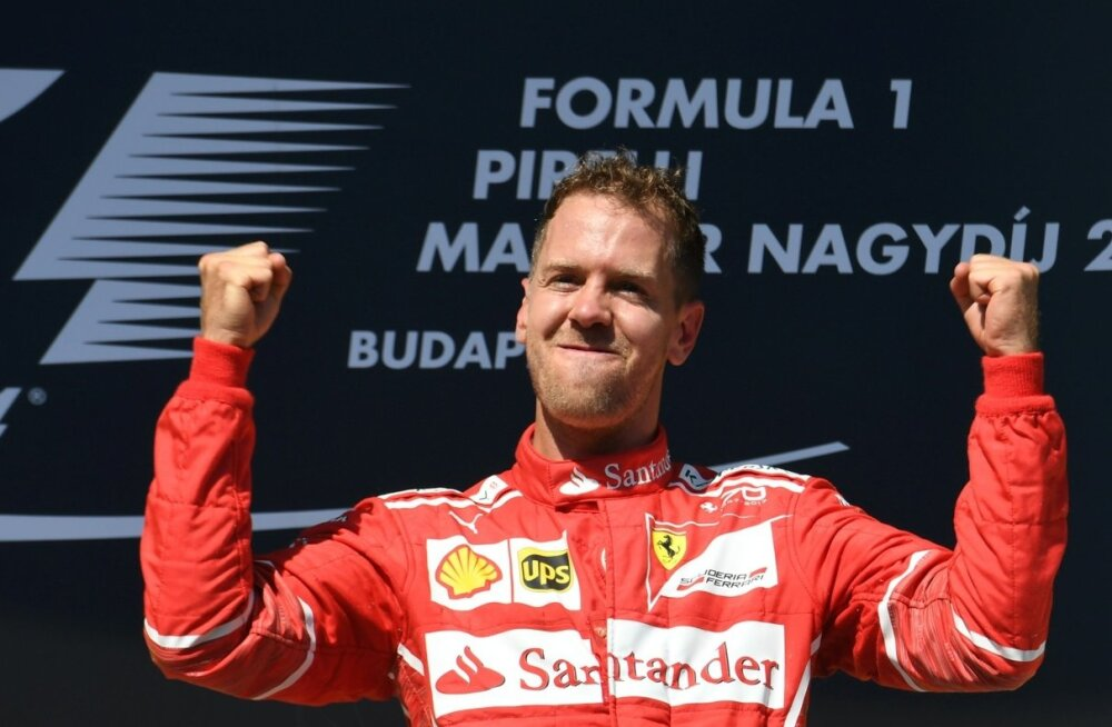 Sebastian Vettel on rahul. Tema võitis, aga tiimikaaslane Kimi Räikkönen oli kiirem.