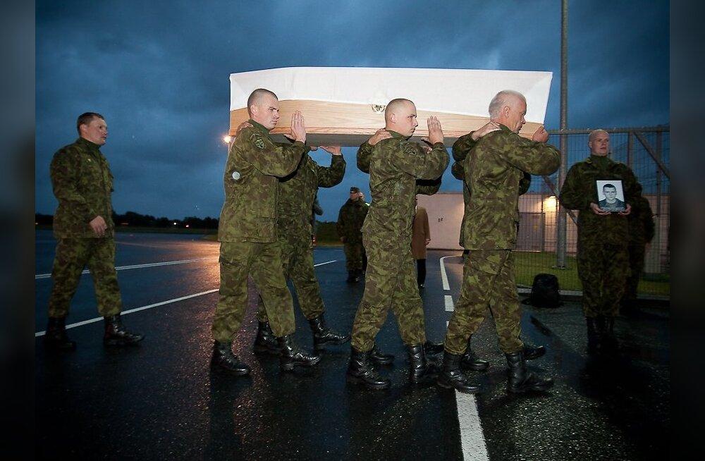 Langenud sõduri kojusaabumine